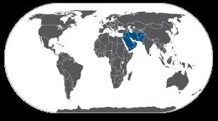 מפת המזרח התיכון