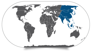 מפת אסיה הצפונית