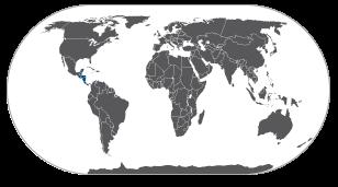 מפת מרכז אמריקה