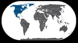 מפת אמריקה הצפונית