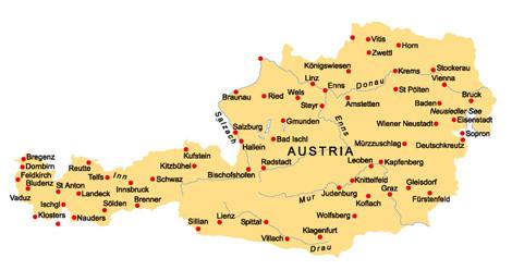 מפת אוסטריה