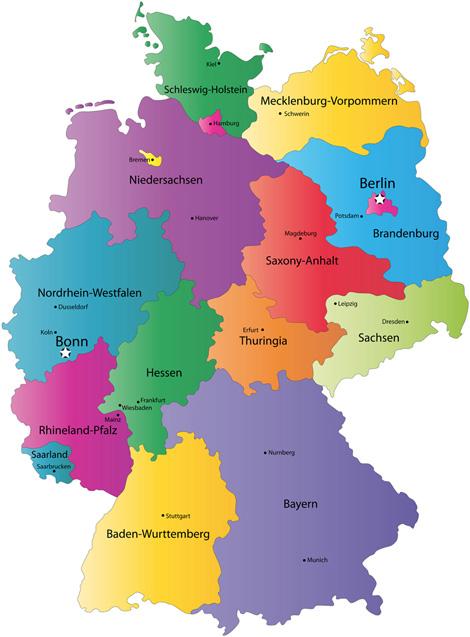 מפת גרמניה