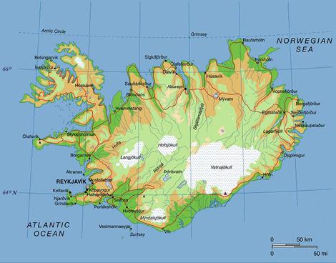 מפת איסלנד